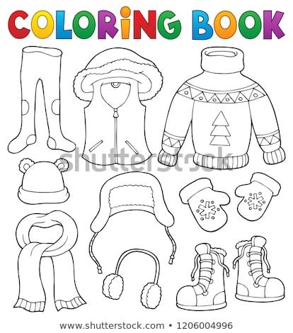 Stockfoto: Winter · kleding · onderwerp · ingesteld · mode · kunst