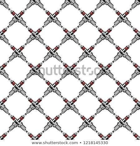 Spark plugs Pattern. Garage Seamless symbols. Stock Vector mechanic wallpaper illustration isolated  Stock photo © JeksonGraphics