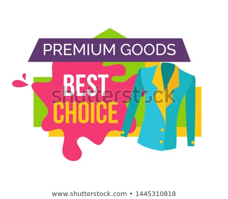 Foto d'archivio: Premium Goods Best Choice Promo Emblem With Jacket