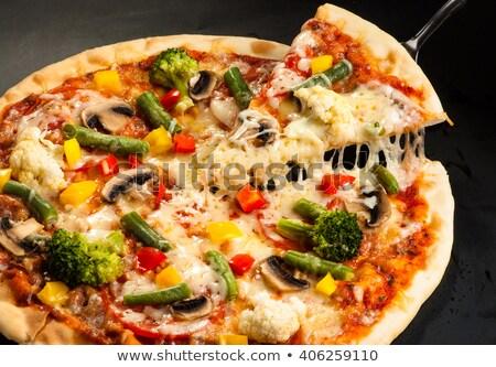 おいしい ベジタリアン ピザ 自家製 野菜 トマト ストックフォト © YuliyaGontar