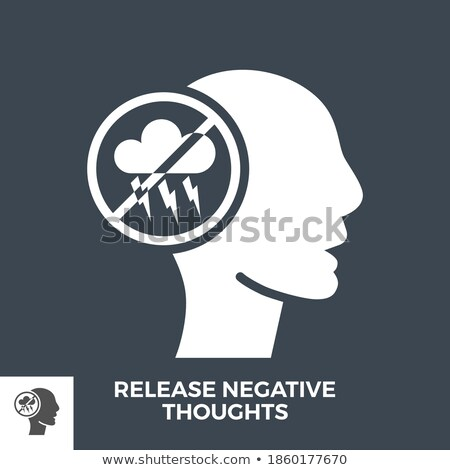 Release Negative Thoughts Glyph Vector Icon. Stock photo © smoki