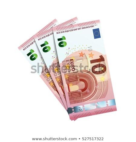 Bundle banknotes of 10 euro isolated on white Stock photo © Evgeny89