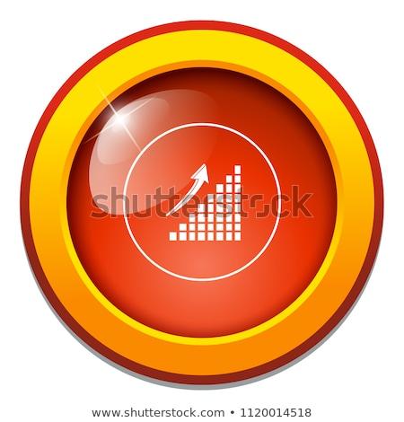 Wykres słupkowy ikona ilustracja odizolowany biały ceny Zdjęcia stock © kyryloff