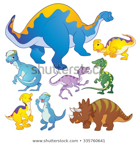 Cute group Dinosaurs vector many actions Stock photo © watcartoon