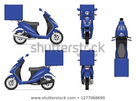ストックフォト: 現実的な · 青 · オートバイ · ベクトル · 配信