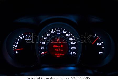 autó · hangszer · panel · megvilágított · éjszaka · sebesség - stock fotó © ruslanshramko