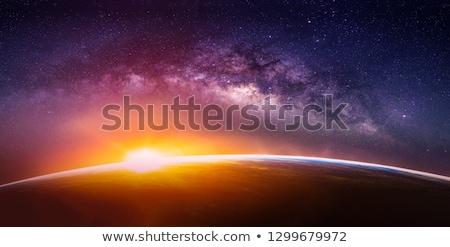 Beautiful milky way view Stock photo © Anna_Om