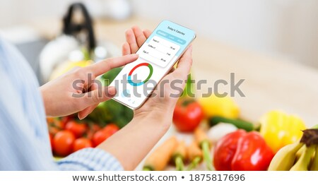 Counting banner with fresh fruit  Stock photo © colematt