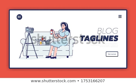 landing · pagina · sjabloon · cartoon · blogger · streaming - stockfoto © rastudio