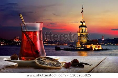 Tea and panorama of Istanbul Stock photo © Givaga