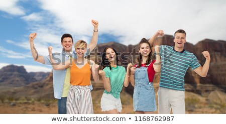 счастливым друзей кулаком насос Гранд-Каньон Сток-фото © dolgachov