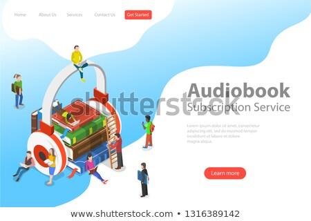 Isometrische vector landing sjabloon onderwijs literatuur Stockfoto © TarikVision
