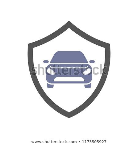 Veiligheid dienst bewaker schild veiligheid badge Stockfoto © kyryloff