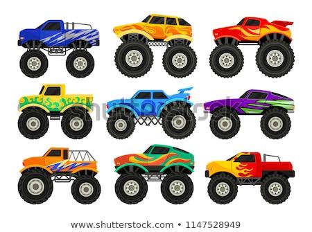 vector cartoon monster truck isolated on white background stock photo © mechanik