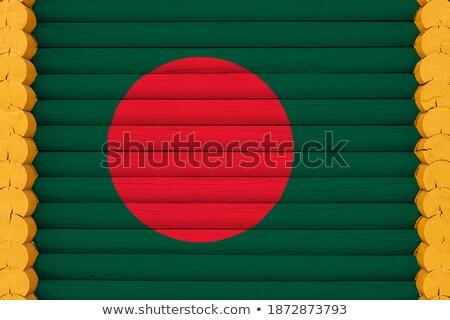 Huis vlag Bangladesh rij witte huizen Stockfoto © MikhailMishchenko