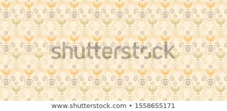 Seamless pattern with Hanukkah symbols Stock photo © netkov1