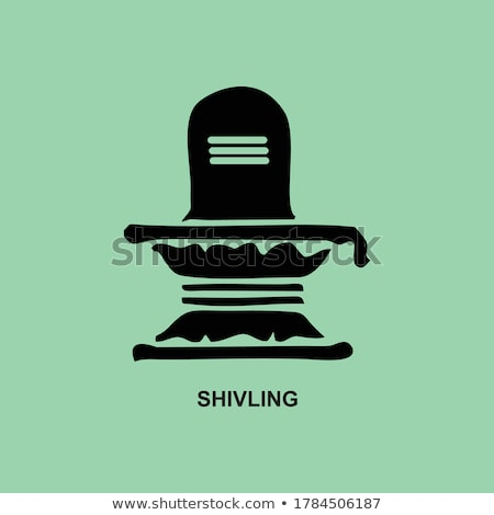 om symbol with shivling idol background Stock photo © SArts
