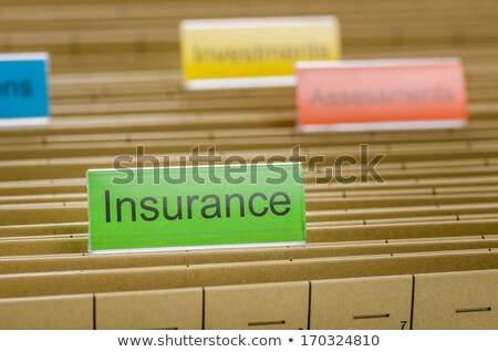 File folders with a tab labeled Life Insurance Stock photo © Zerbor