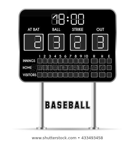 baseball scoreboard icon stock photo © angelp