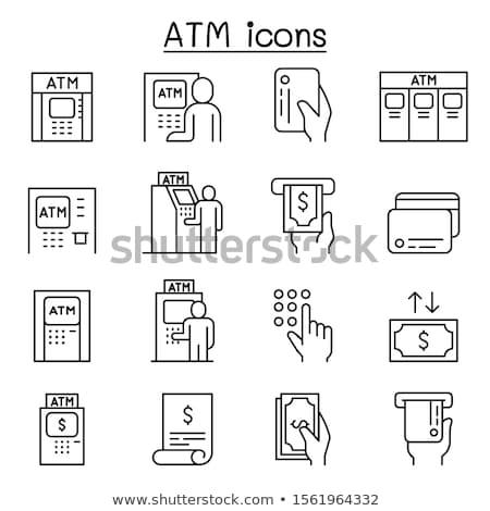 Caixa eletrônico ícone cor projeto negócio tecnologia Foto stock © angelp