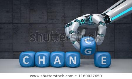 робота стороны изменений шанс черный Сток-фото © limbi007