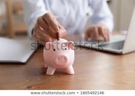 Vrouwelijke werknemer budget planning triest financieren Stockfoto © Elnur