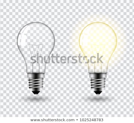 Light Bulb Vector. Glowing Bright Light Bulb Icon. Fluorescent Invention. 3D Realistic Transparent I Stock photo © pikepicture