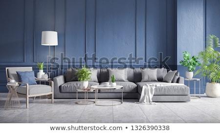 Habitación vacía azulejos piso 3d pared arquitectura Foto stock © magraphics