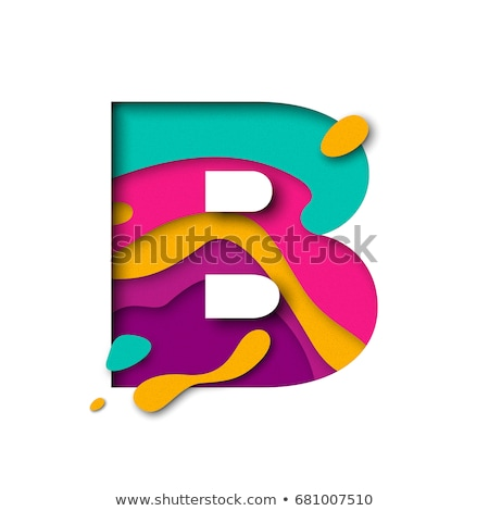 Multi color layers font Letter B 3D Stock photo © djmilic