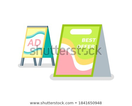 Advertising or Ad, Reclaiming Placard, Info Vector Stock photo © robuart