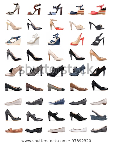 collection of various fashion shoes isolated on white stock photo © marysan