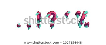 Színes papír kivágás betűtípus vessző 3D 3d render Stock fotó © djmilic