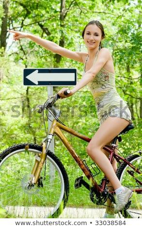 pretty girl on roadbike stock photo © jossdiim
