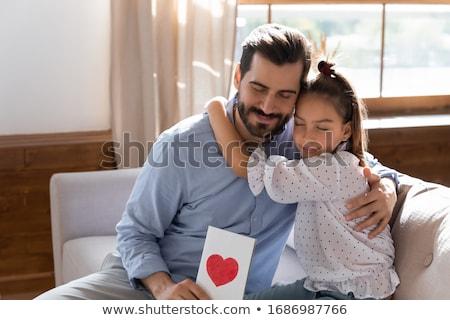 Kartpostal baba tanınmaz küçük kız Stok fotoğraf © pressmaster
