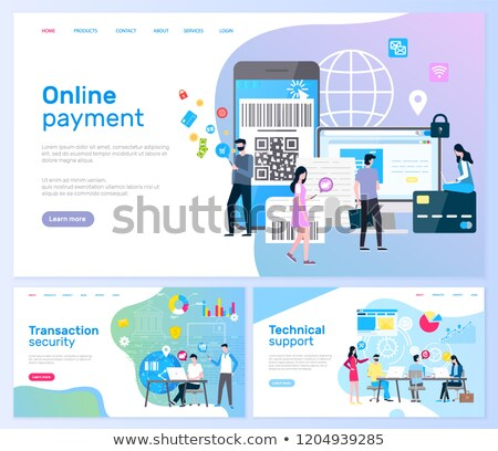 Online Payment and Transaction, Technical Support Stock photo © robuart