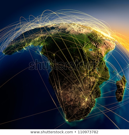 detailed earth at night africa and madagascar stock photo © antartis