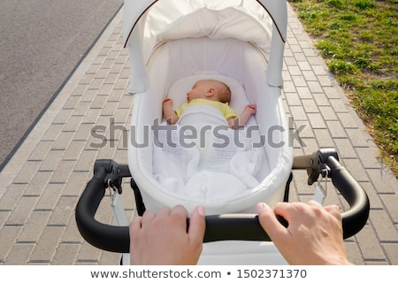 Mother and Baby, Woman with Perambulator Walking Stock photo © robuart