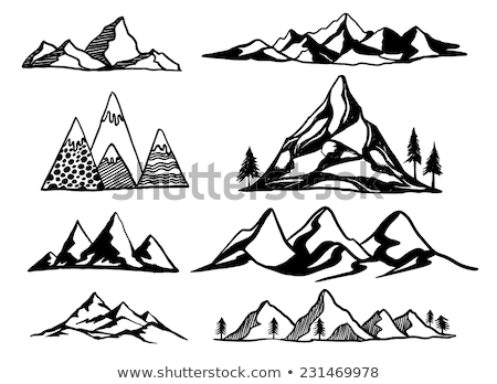 summit of mountain landscape hand drawn vector stock photo © pikepicture