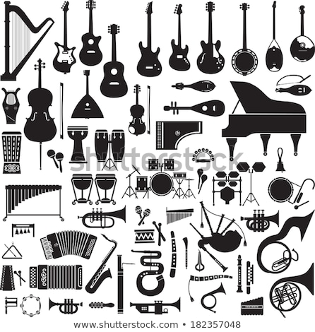 Basse tambour instrument de musique cartoon monochrome illustration Photo stock © robuart