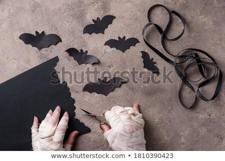 uit · papier · halloween · horror · viering - stockfoto © furmanphoto