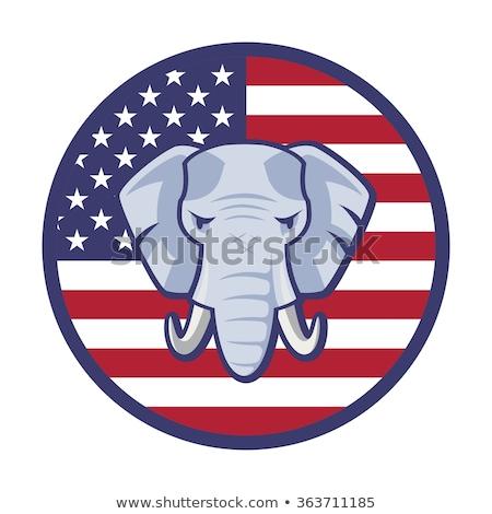 American Elephant Vote Drawing Stock photo © patrimonio