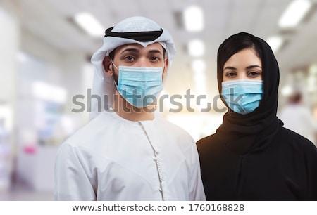 gelukkig · moslim · arabisch · familie · geïsoleerd · arab - stockfoto © robuart