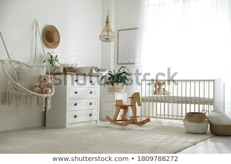 Baby and Kids Caring Objects, Cradle and Toys Stock photo © robuart