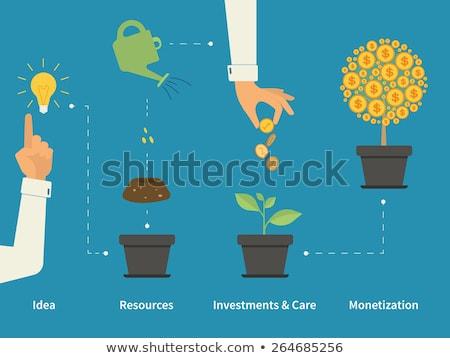растущий · деньги · деревья · бизнесмен · аннотация - Сток-фото © robuart
