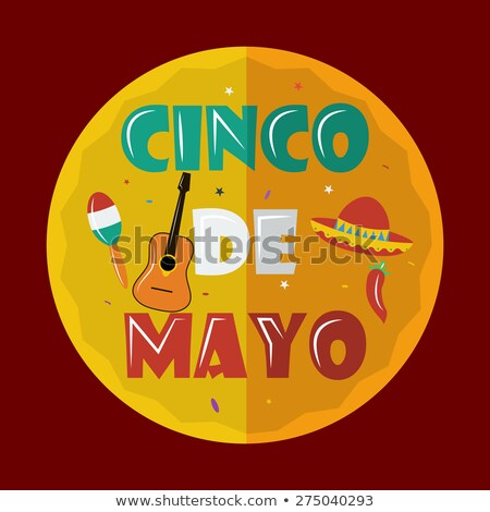 Cinco de Mayo 5th of May Greeting Poster Flat Stock photo © robuart