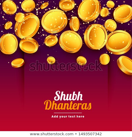 shubh dhanteras falling golden coins festival background Stock photo © SArts
