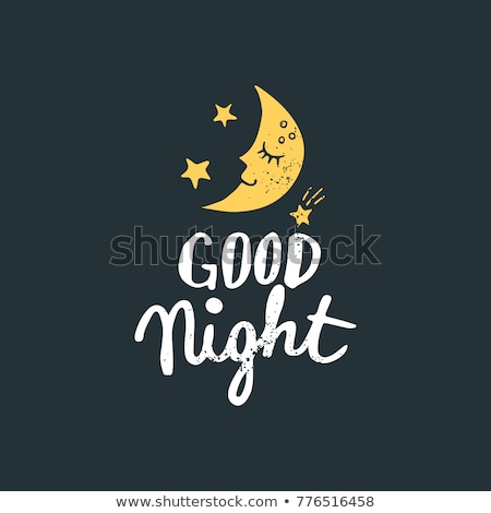 Good night handwriting lettering isolated, design for typography Stock photo © MarySan