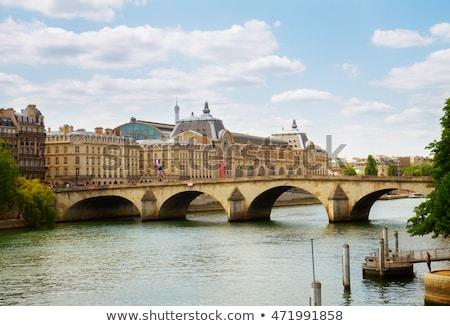 музее реке Франция закат Париж город Сток-фото © neirfy