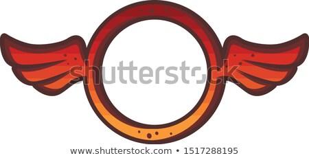Kör forma szárny logo felirat ikon Stock fotó © vector1st