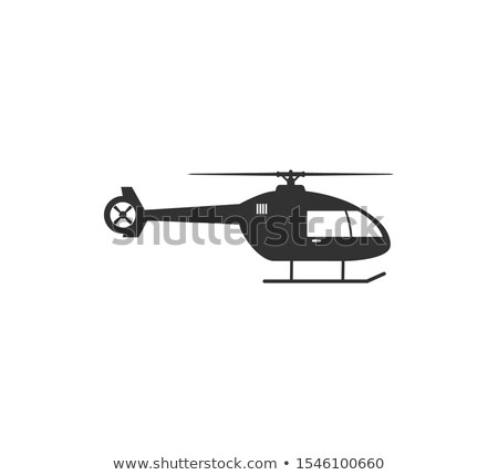 Helikopter vector icon geïsoleerd witte Stockfoto © smoki